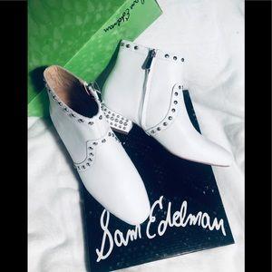 SAM EDELMAN White Booties sz 8 NWT